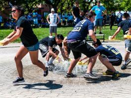 Sponge Bucket Race